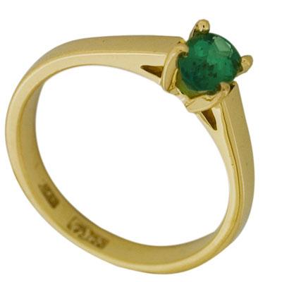 Кольцо с изумрудом, Золото 750