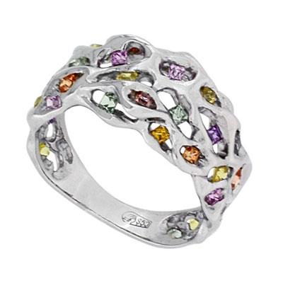 Кольцо с сапфирами, Платина 850