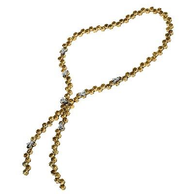 Колье с бриллиантами и цитринами, эмаль, Золото 750