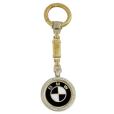 Брелок с бриллиантами и эмалью BMW, Золото 750
