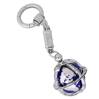 Брелок для ключей с бриллиантом, эмаль, Золото 585