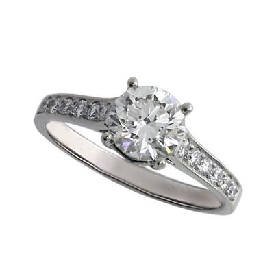 Кольцо с бриллиантами, Платина 950