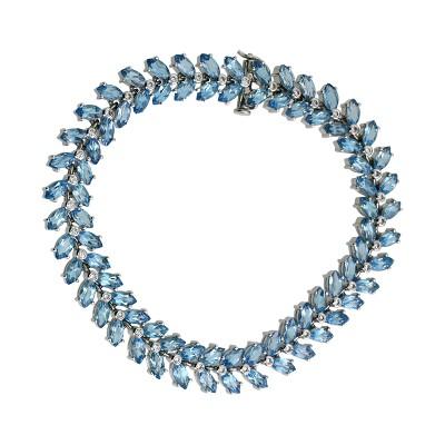 Браслет с бриллиантами и топазами, Золото 585