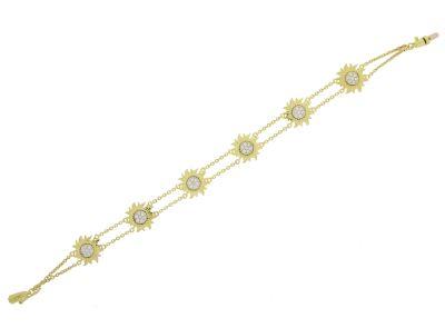 Браслет с бриллиантами, Золото 750