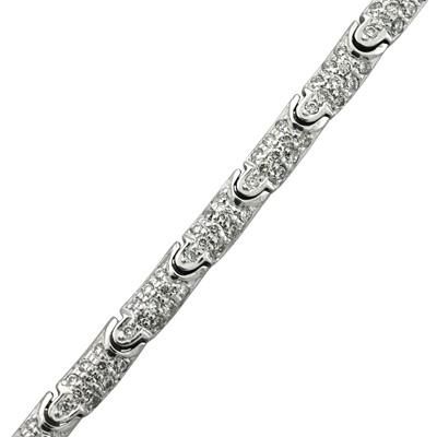 Колье с бриллиантами, Палладий 850