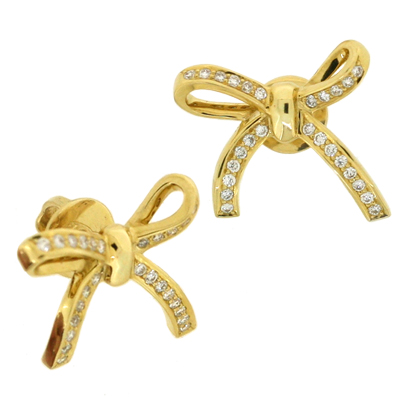 Серьги с бриллиантами, Золото 750