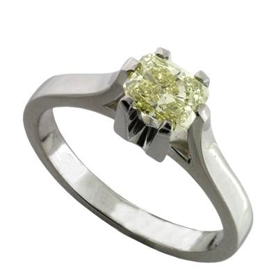 Кольцо с бриллиантом, Палладий 850