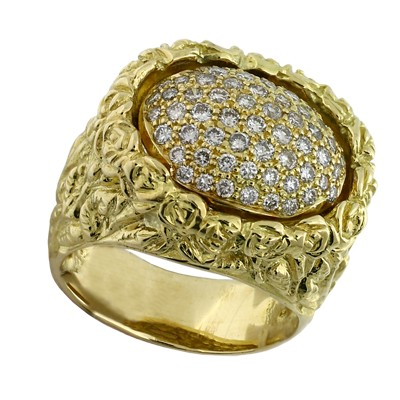 Кольцо с бриллиантами , Золото 750