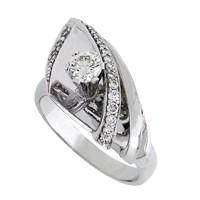 Кольцо с бриллиантами, Палладий 850