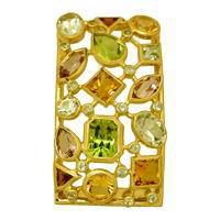 Подвеска с цветными камнями, Золото 750