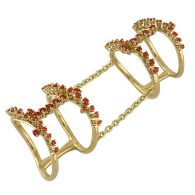 Кольцо с сапфирами, Золото 750