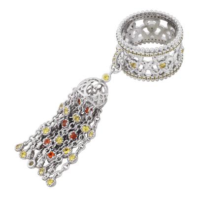 Кольцо с сапфирами, Золото 585