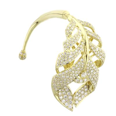 Серьга с бриллиантами, Золото 750