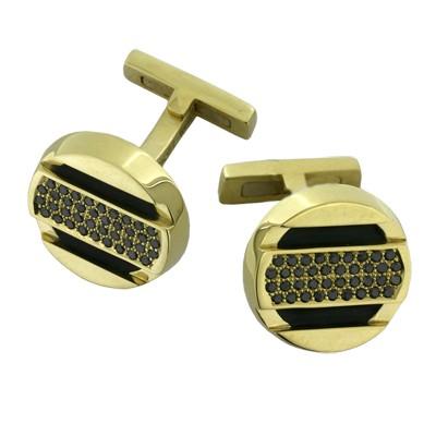 Запонки с бриллиантами, Золото 750