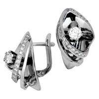 Серьги с бриллиантами, Платина 950