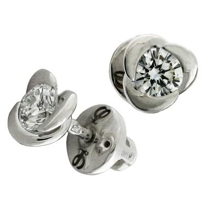 Серьги с бриллиантами, Золото 585