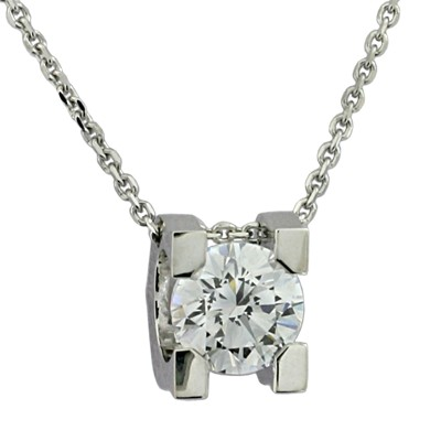 Колье с бриллиантом, Золото 585