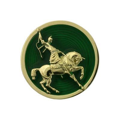 Значок с эмалью, Золото 750