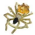 Кольцо с бриллиантами и цветными камнями, Золото 750