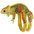 Кольцо с бриллиантами, рубинами, сапфирами, изумрудами, Золото 750