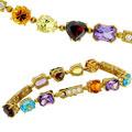 Браслет с бриллиантами и драгоценными камнями, Золото 750