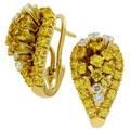 Серьги с сапфирами и бриллиантами, Золото 750