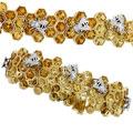 Браслет с бриллиантами и цитринами, эмаль, Золото 750