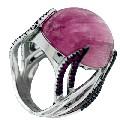 Кольцо с рубинами и турмалин, Золото 585