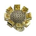 Кольцо с бриллиантами и сапфирами, Золото 585, Золото 750