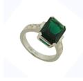 Кольцо с бриллиантами и изумрудом, Золото 585