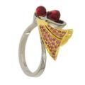 Кольцо с рубинами и сапфирами, Золото 750
