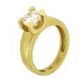 Кольцо с бриллиантом, Золото 750