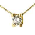 Колье с бриллиантом, Золото 750