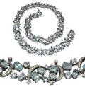 Колье с бриллиантами и топазами, Палладий 850