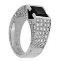 Кольцо с бриллиантами и ониксом, Золото 750