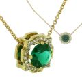 Колье с бриллиантами и изумрудом, Золото 750