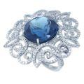 Кольцо с бриллиантами и топазом, Золото 585