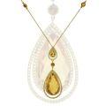 Колье с бриллиантами и цитринами, Золото 750