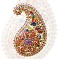 Подвеска с сапфирами, рубинами и эмалью, Золото 750
