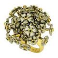 Кольцо с бриллиантами, Палладий 850, Золото 750