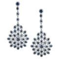 Серьги с бриллиантами и сапфирами, Золото 585
