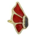 Кольцо с бриллиантами и эмалью, Золото 750
