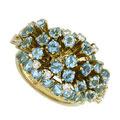 Кольцо с топазами и бриллиантами, Золото 750