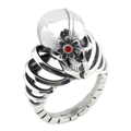 Кольцо с гранатом, Серебро 925