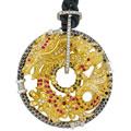 Подвеска с бриллиантами сапфирами, Золото 750