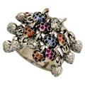 Кольцо с сапфирами и бриллиантами, Золото 585