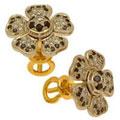 Серьги с бриллиантами и облагороженными бриллиантами, Золото 750